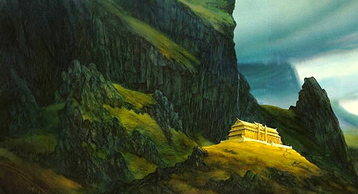 "Inspiration of Medieval Language & Literature: ""Beowulf"" (""The Hall of Heorot,"" art by John Howe)"