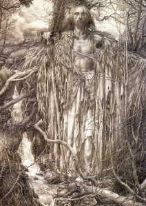"Inspiration of Medieval Language & Literature: ""Merlin"" (art by Alan Lee)"