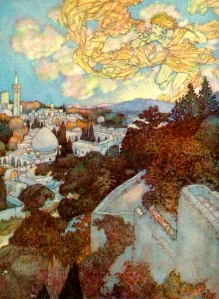"Inspiration of Medieval Language & Literature: ""Morning,"" from ""The Rubaiyat of Omar Khayyam"" (art by Edmund Dulac)"