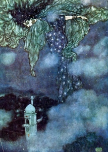 "Inspiration of Medieval Language & Literature: ""Night,"" from ""The Rubaiyat of Omar Khayyam"" (art by Edmund Dulac)"