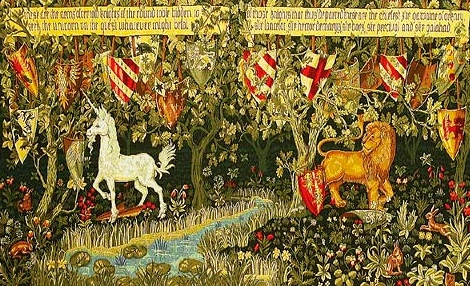The Quest for the Grail (Tapestry, William Morris, c. 1860s)