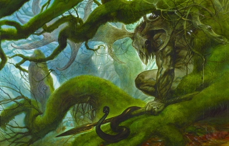 "Inspiration of Medieval Language & Literature: Celtic Myths (""Cernunnos,"" John Howe, 2007)"