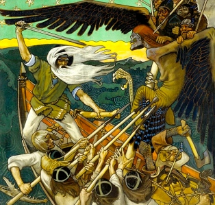 "Inspiration of Medieval Language & Literature: Finnish Folktales (""The Defense of the Sampo,"" art by Akseli Gallen-Kallela, 1896)"