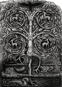 "Inspiration of Medieval Language & Literature: The Epics & Sagas (""The Yggdrasil Tree,"" by Simon Brett, engraving)"