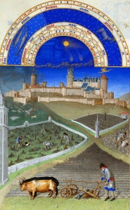 "Inspiration of Medieval Language & Literature: William Langland, ""Piers the Plowman"" (""March,"" Très Riches Heures du Duc de Berry,"" 1410; Musée Condé, MS 65, fol. 3v)"