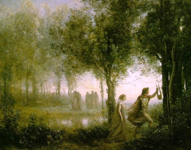 "Inspiration of Medieval Language & Literature: ""Sir Orfeo"" (Trans. by J.R.R. Tolkien, 1944; publ. 1975; ""Orpheus and Eurydice,"" art by Jean Baptiste Camille Corot)"