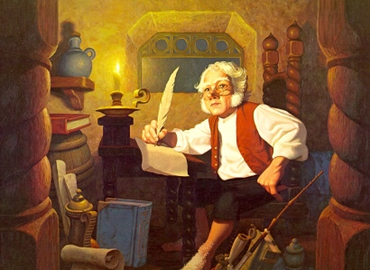 "Medieval Book Culture: J.R.R. Tolkien, ""Bilbo at Rivendell"" (The Brothers Hildebrandt)"