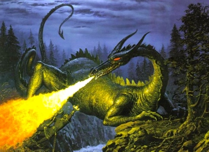 "J.R.R. Tolkien, ""The Children of Hurin"" (""The Slaying of Glaurung, Ted Nasmith)"