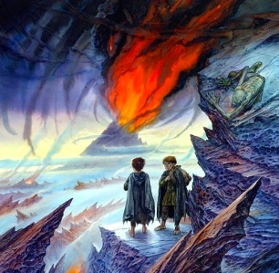 "J.R.R. Tolkien's Lord of the Rings: ""Frodo's Quest for Mount Doom"" (art by John Howe)"