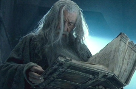"Medieval Book Culture and Epic Fantasy:  Gandalf Reads of Balin's Fate in Moria (J.R.R. Tolkien, ""The Fellowship of the Ring,"" New LIne Cinema, 2001)"