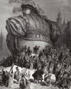"""Literature & Epic Fantasy: Auerbach's Mimesis: """"The World in Pantagruel's Mouth,"""" here in Rabelais's """"Gargantua and Pantagruel"""" (Gustave Dore, 1854)"""