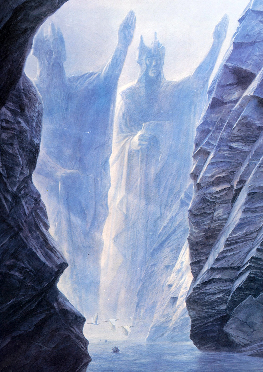 tolkien the argonath a j carlisle tolkien the argonath art by