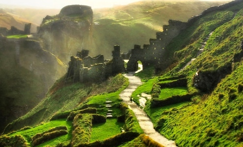 Inspiration of Medieval Language & Literature: The Arthurian Legends (Tintagel Castle, Cornwall, England)