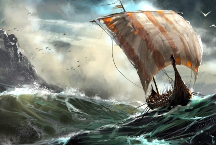 Viking Longboat (art by David Seguin)