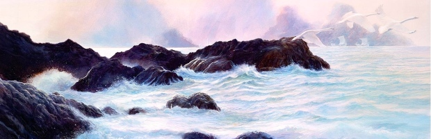 "Medieval Language & Literature: ""The Wanderer"" (""The Sea,"" John Howe)"