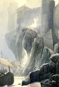 "Inspiration of Medieval Language & Literature: The Arthurian Grail Quest (""Carbonek, Castle of the Fisher King,"" Alan Lee)"