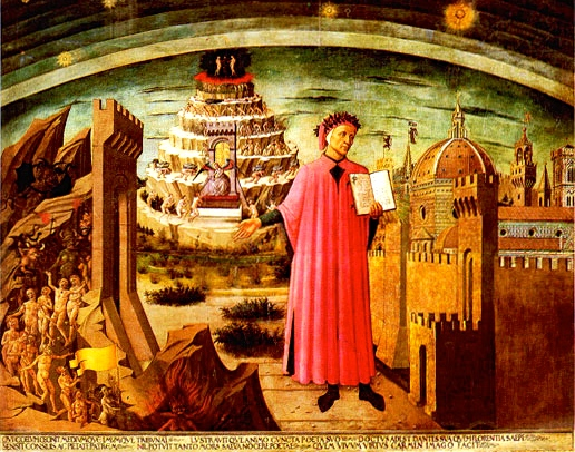 "Inspiration of Medieval Language & Literature: Erich Auerbach & Dante Alighieri, ""The Divine Comedy"" (Domenico di Michelino, fresco, wall of Florence Cathedral, Santa Maria del Fiore, 1465)"
