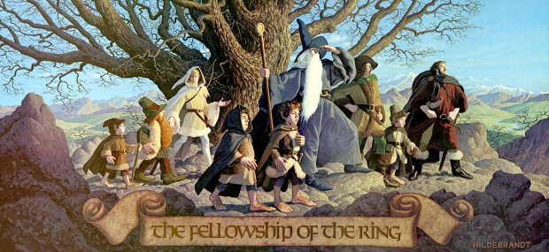 """J.R.R. Tolkien, """"The Fellowship of the Ring"""" (by the Brothers Hildebrandt)"""