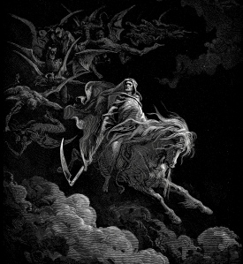 "Inspiration of Medieval Language & Literature: Auerbach's ""Ch. 2, Latin Prose in the Middle Ages"" (Gregory the Great's ""Dialogues & Sermons,"" eschatology; here, Gustave Doré's ""Death on a Pale Horse"" from Book of Revelations; 1865)"
