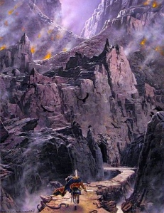 "J.R.R. Tolkien, ""Fingolfin's Wrath"" (from ""The Silmarillion,"" Ted Nasmith)"