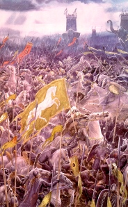 "J.R.R. Tolkien, ""The Battle of the Pelennor Fields"" (from ""The Return of the King,"" Alan Lee)"