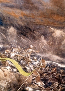 "J.R.R. Tolkien, ""The Clouds Burst"" (from ""The Hobbit,"" Alan Lee)"