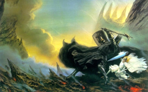"J.R.R. Tolkien, ""The Fall of Fingolfin,"" from ""The Silmarillion"" (John Howe)"