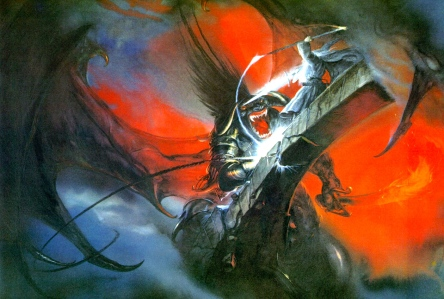 "J.R.R. Tolkien, ""The Fellowship of the Ring"" (""Gandalf and the Balrog,"" by John Howe)"