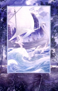 "J.R.R. Tolkien, ""The Grey Ship of the Elves"" (from ""The Return of the King,"" Alan Lee)"