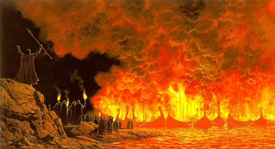 "J.R.R. Tolkien, ""The Silmarillion"" (""The Burning of the Ships"")"
