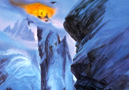 "J.R.R. Tolkien, ""The Two Towers"" (""Zirikzigal,"" by John Howe)"