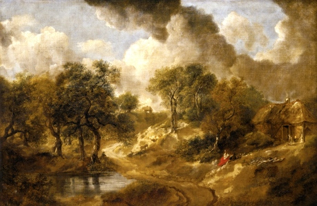 "Moorcock's Critique of 18th C. British Toryism & Bucolic Utopias sans Cities(""Landscape in Suffolk,"" Thomas Gainsborough, 1748)"