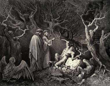 Inspiration of Medieval Language & Literature: Erich Auerbach & Dante's Inferno (Canto XIII, Gustave Doré)