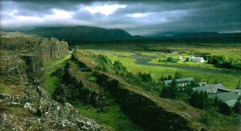 Thingvellir, Iceland (site of Viking Althing, proto-parliamentary National Assembly, c. 1000)