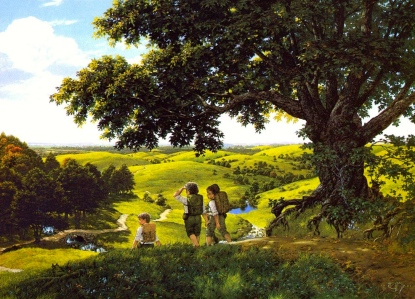 "Tolkien, ""Green Hill Country"" (Ted Nasmith)"