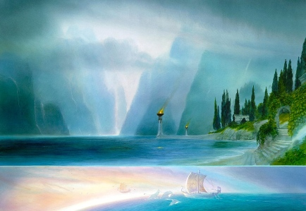"Tolkien, ""The Return of the King"" (""The Grey Havens,"" John Howe)"