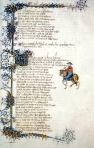 "Geoffrey Chaucer, ""The Wife of Bath's Tale,"" from ""The Canterbury Tales"" (Ellesmere ms, 1405-1410)"