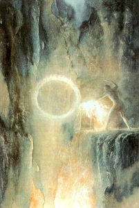"Mythopoeic Forging from 1914-1973, J.R.R. Tolkien, ""The Silmarillion"" (""Sauron,"" by Alan Lee)"