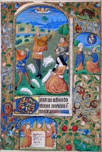 "Inspiration of Medieval Language & Literature: Chansons de Geste (""Book of Hours,"" illuminated ms.)"