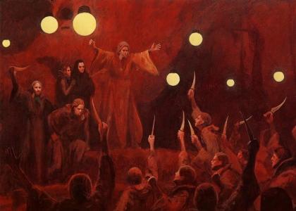 """Frank Herbert's """"Dune"""" (""""Paul Administers the Oath of the Fedaykin,"""" by John Schoenherr)"""