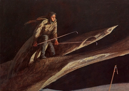 "Channeling the Medieval ""Songs of Great Deeds"" (""Chansons de Geste""): Frank Herbert's ""Dune"" (""Paul Muad'Dib Calling His First Sandworm,"" by John Schoenherr)"