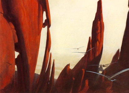 "Frank Herbert's ""Dune"" (""The Flight Through the Shield Wall,"" art by John Schoenherr)"