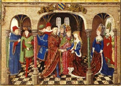 """Inspiration of Medieval Language & Literature: Chansons de Geste (""""Le Chanson de Girart de Roussillon,"""" illum. ms, c. 1450, Österrichische Nationalbibliothek, Vienna)"""
