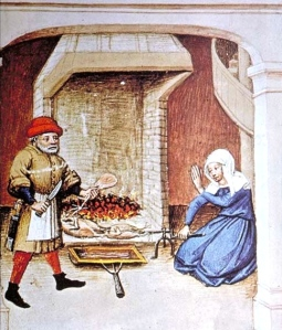 "Inspiration of Medieval Language & Literature: Chansons de Geste (""Medieval Cooking,"" from 15th c. ms ""The Decameron,"" Flanders)"