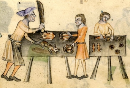 "Inspiration of Medieval Language & Literature: Daily Life in the Chansons de Geste (""Cooking,"" from the Luttrell Psalter, c. 1340)"