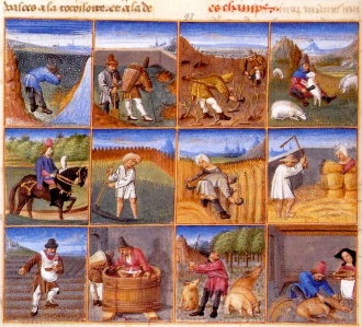 "The Medieval Year (from ""Ruralia commoda,"" by Pietro de' Crescenzi, c. 1230-1320)"