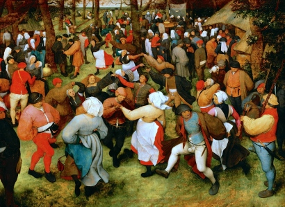 "Medieval Socializing: ""The Dance Village"" (Pieter Bruegel the Elder, 1566)"