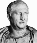 Marcus Tullius Cicero (106-43 B.C., marble bust, Capitoline Museum, Rome)