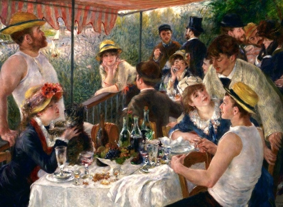 "Timelessness of Socializing (""Luncheon of the Boating Party,"" Renoir, 1881)"