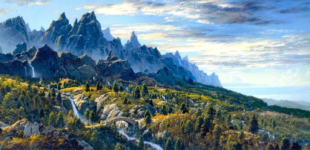 """Ithilien"" (J.R.R. Tolkien, ""The Two Towers,"" Ted Nasmith)"